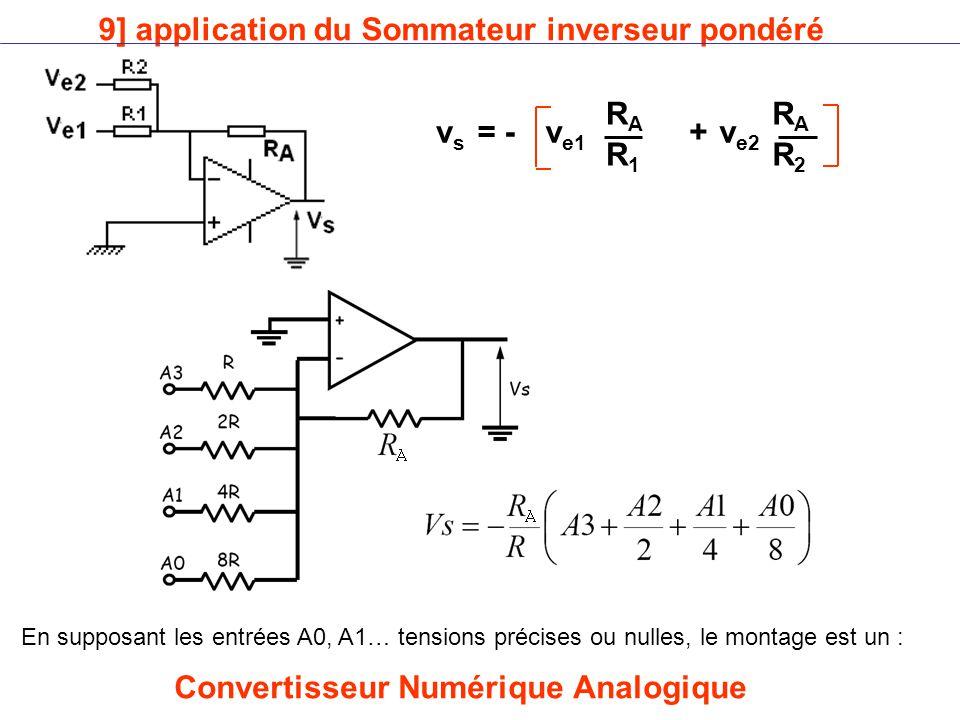 9] application du Sommateur inverseur pondéré